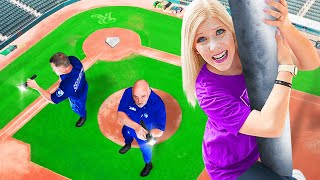 Playing Hide and Seek in a $30,000,000 Stadium! - Challenge