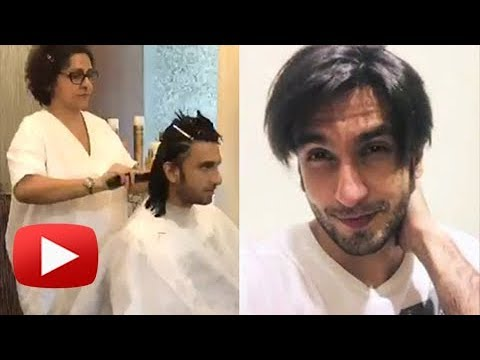 Ranveer Singh Cuts His Hair Live On Camera Bollywood Now Youtube