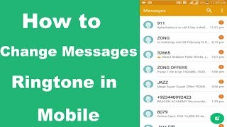 In this video , you will learn that how to change messages notification tone your mobile with easy process. friends its process very simple and easy. frie...