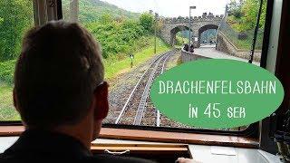 Mit der Drachenfelsbahn - Schloss Drachenburg und Drachenfels