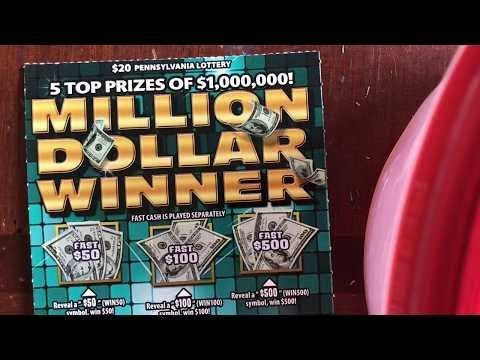 $20 MILLION DOLLAR WINNER! - CASH SYMBOL - PA Lottery Scratch Off Tickets