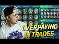 PAINTED EXOTICS ONLY FOR CRATES! *OMG* OVERPAYING IN TRADES! | TRADING WITH FANS IN ROCKET LEAGUE #2