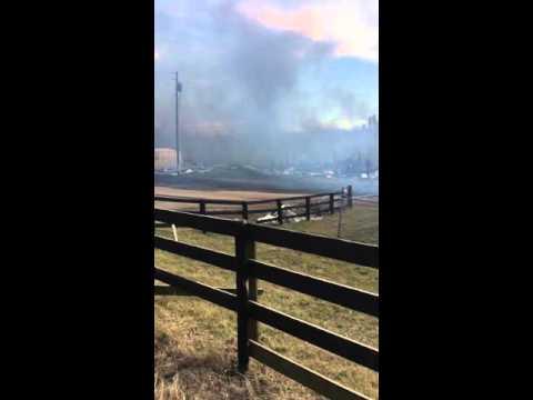 Fire at Lexington stockyard