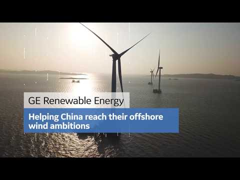 Three Haliade 150-6MW offshore wind turbines in the Fujian X