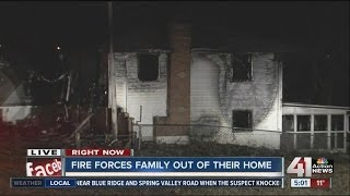 Kansas City house fire displaces family of 11