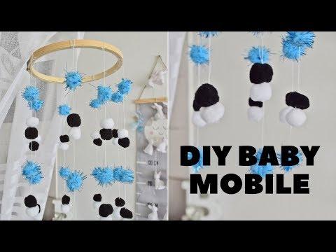 DIY BABY MOBILE | DIY Karuzela nad łóżeczkiem dla bobasa.