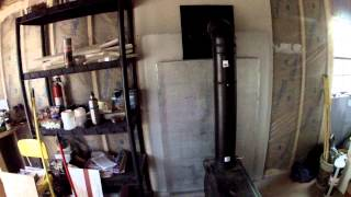 Off Grid Wood Stove Installed October 22nd 2013