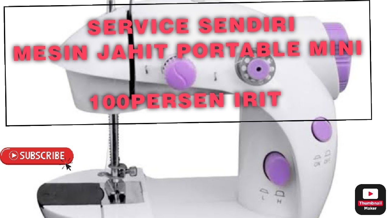 Servis Mesin Jahit Mini Portable Benang Tdk Bisa Mengkait Mengikat By Syt Youtube
