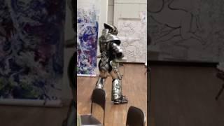 高円寺「ハート・トゥ・アート」にて、すずきゆきひろさん製作のロボコ...