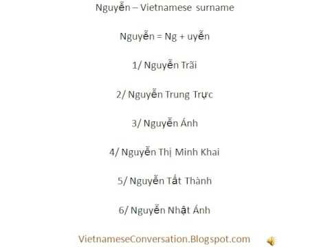 How to pronounce the most common Vietnamese surname Nguyen?