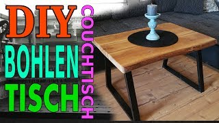 DIY Massivholz Couchtisch