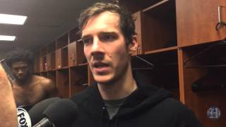Miami Heat guard Goran Dragic reacts to win over Timberwolves