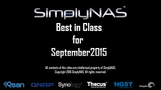 Best in Class for September 2015 | SimplyNAS