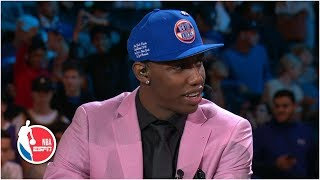 RJ Barrett 'overcome with emotions' after being drafted by New York Knicks | 2019 NBA Draft