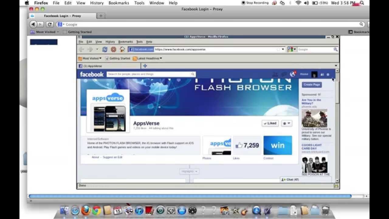 Facebook proxy lightspeed bypass