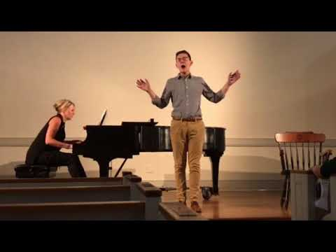 Nathan Fryer performs a medley of songs he arranged