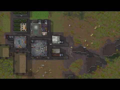 Rimworld Full Game Timelapse - Rainforest Tribe |