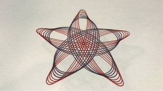 Earthy Colors Star Design | Spirograph
