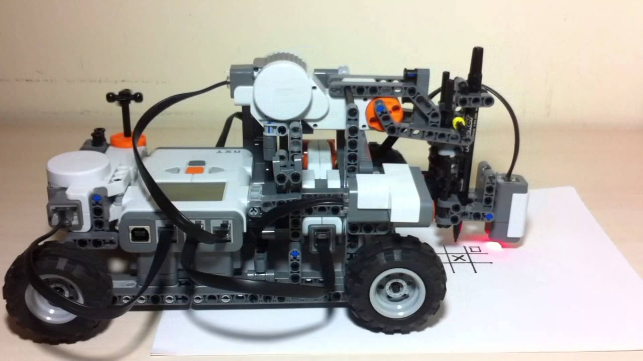 Lego Mindstorms Nxt Robot Tic Tac Toe O Play Youtube