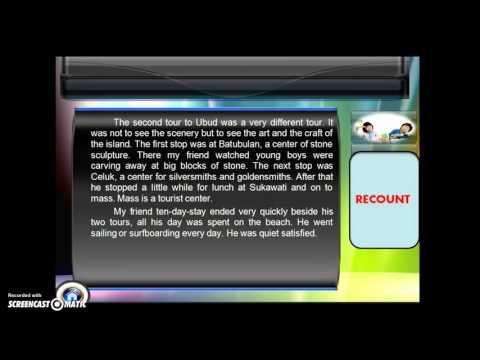 recount text Powtoon presentation about recount text-- created using powtoon -- free sign up at   -- create animated videos and animated present.
