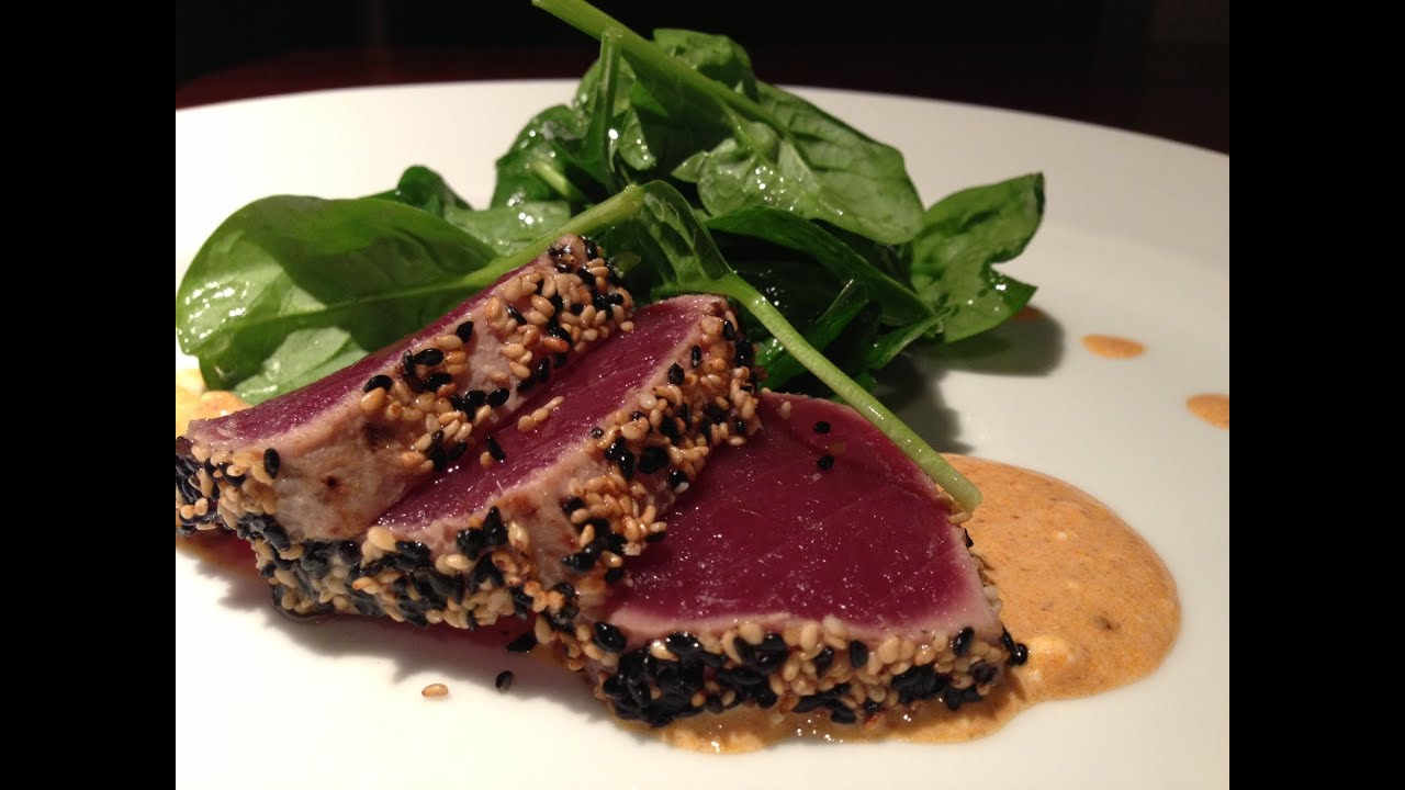 Seared Ahi Tuna Recipe - YouTube