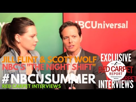 Jill Flint & Scott Wolf NightShift ed at NBCUniversal's Summer 2017 Press Day