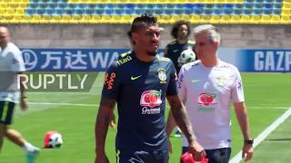 Russia: Brazil squad holds open training in Sochi