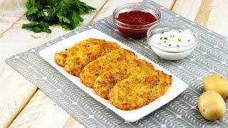 Запеченные картофельные драники с сыром