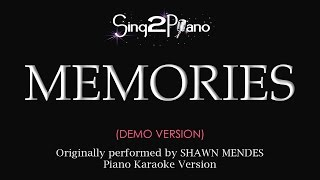 Memories (Piano karaoke demo) Shawn Mendes