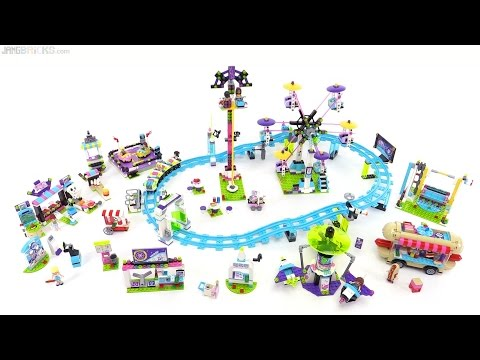 All LEGO Friends Amusement Park sets together! - YouTube