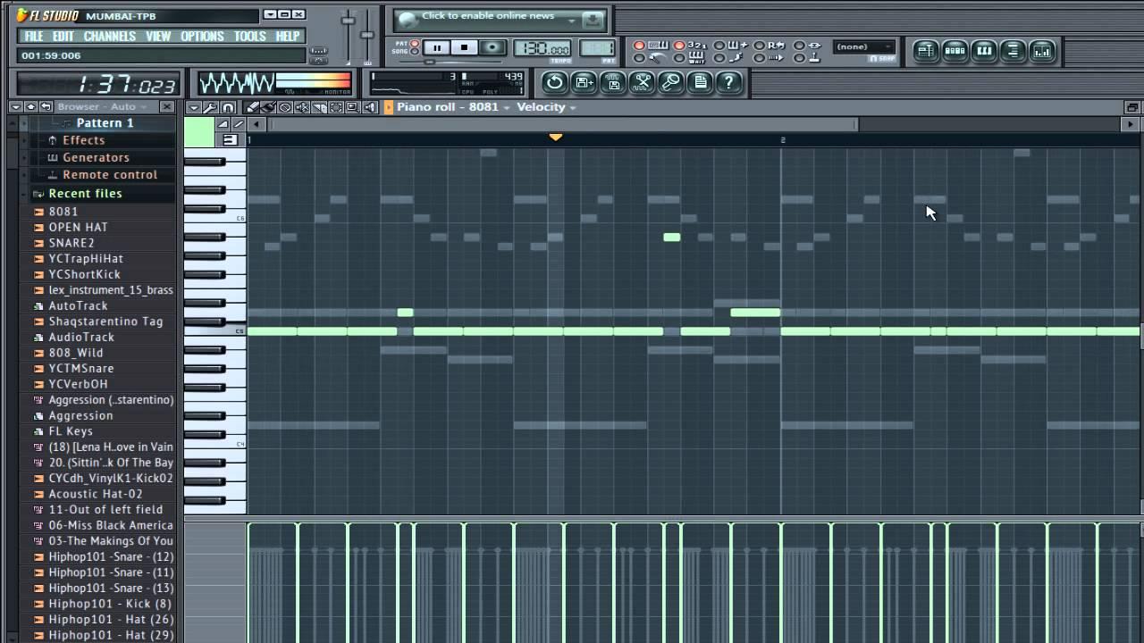 Tarentino/808 Mafia Live Tutorial (FL Studio 11) - YouTube
