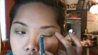Green eyeshadow! Perfect for spring! Thumbnail