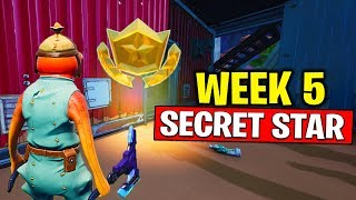 SEMANA 5 SECRETO BATTLE STAR LOCALIZAÇÃO! Fortnite temporada 10-Secret Battle Star semana 5