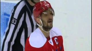 Alex Ovechkin hit on Wayne Simmonds