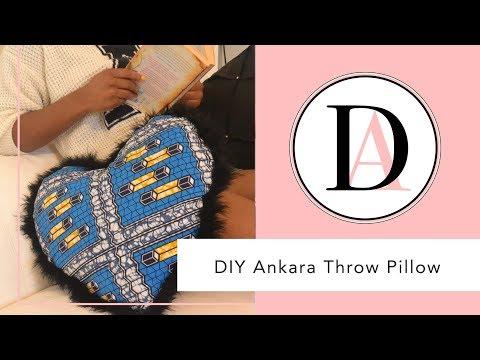 DIY Ankara Pillow/ Throw Pillow- NO SEW!!!