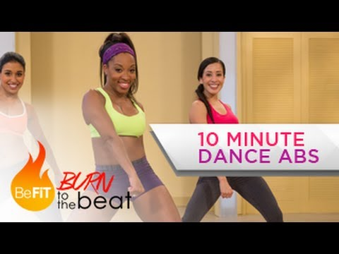 10 Minute Cardio Dance Abs Workout: Burn to the Beat Keaira LaShae