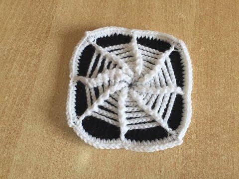 Tuto Square Toile D'araignée Au Crochet Spécial Gaucher