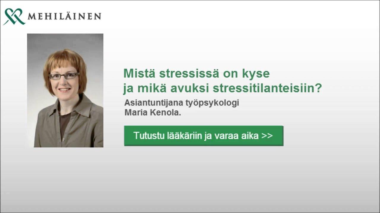 stressin laukeamisen oireet