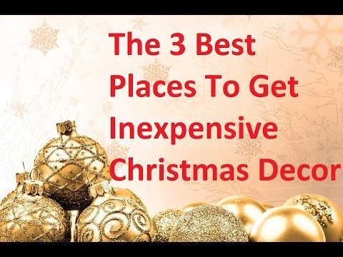 christmas decor where to buy good cheap holiday