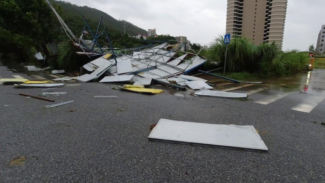 颱風差帕卡來襲,老旺帶你去看看它的威力有多大?道路一片狼狽【老旺與海】