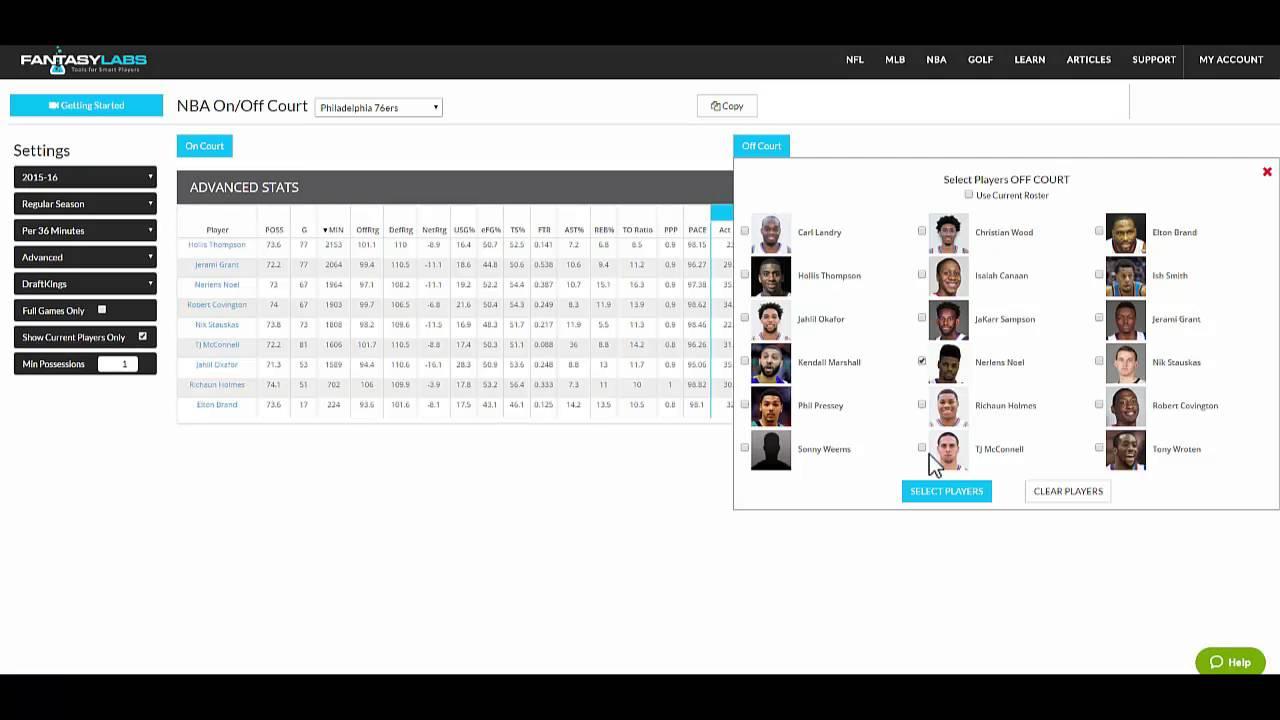 FantasyLabs NBA DFS Lineup Builder Tutorial | The Action