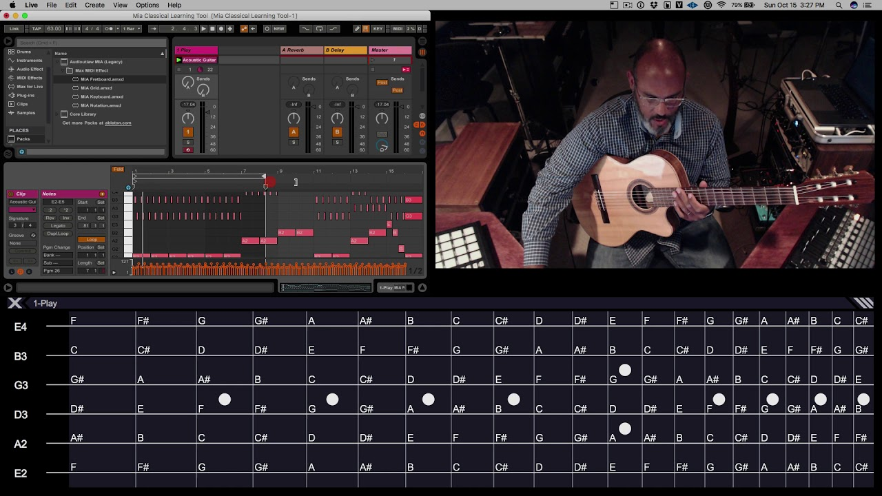 MIA (Midi Input Assistant) Guitar Fretboard walkthrough