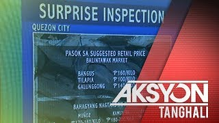 Surprise inspection, isinagawa ng BFAR sa ilang pamilihan sa Quezon City