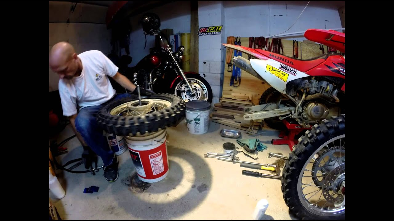 Rear Tire Swap With Diy Changing Quot Stand Quot Aka Bucket