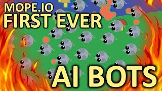 MOPE.IO // BOTS??? // FIRST EVER AI BOTS // BY KING OF AGARIO