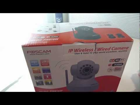 Foscam Wireless IP Camera Unboxing and Review (HD)