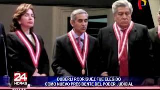 Duberlí Rodríguez fue elegido nuevo presidente del Poder Judicial