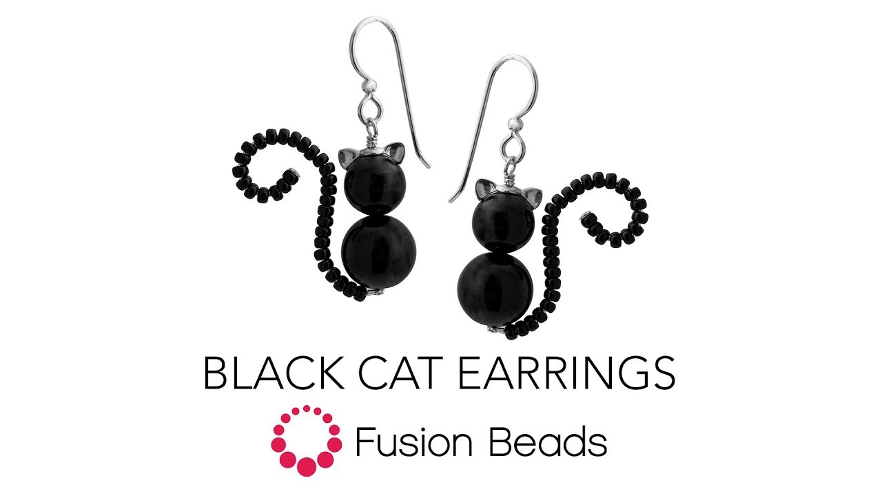Learn How To Make The Black Cat Earrings By Fusion Beads