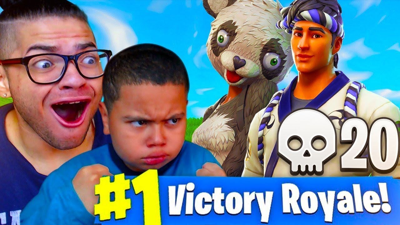 Duos With My 9 Year Old Little Brother New Panda Sushi Master Skin Fortnite Battle Royale Rage
