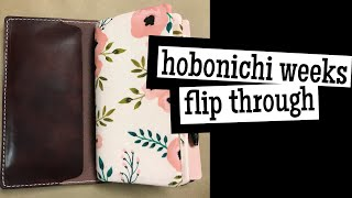 July 2018 flip through | hobonichi weeks & weekly calendar cover setup